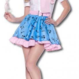 Rock n Roll Girl Premium Kostüm Gr. L