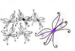 Schmetterlingsflügel violett
