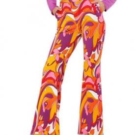 Hippe 70er Jahre Hose Orchideen