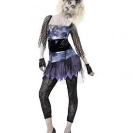 Zombie Damenkostüm im 80er Jahre Stil