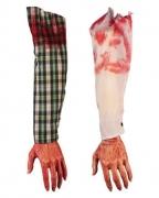 Abgetrennter blutiger Arm