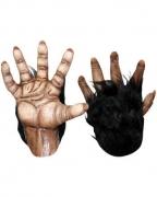 Braune Affenhände aus Latex
