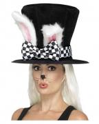 Alice im Wunderland Zylinder mit Kaninchen-Ohren