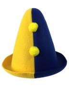 Bajazzo Hut für Kinder gelb-blau
