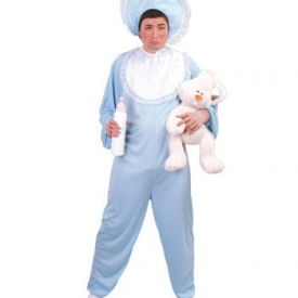 Blaues Babykostüm für Herren