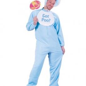 Riesenbaby Kostüm Blau