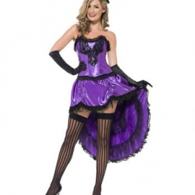 Showgirl Can-Can Kostüm Violett