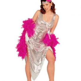 Silbernes Celebrity Pailletten Kleid