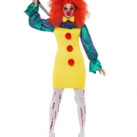 Horror-Clown Frauen Kostüm Klassik