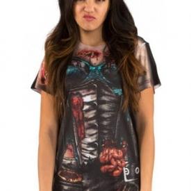 Korsett Zombie Damen Fun-Shirt