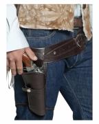 Cowboy Pistolenholster mit Gürtel