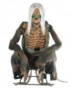 Animatronic mit Sound kniehendes Skelett