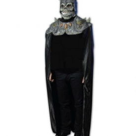 Satanischer Ritter Maske mit Umhang