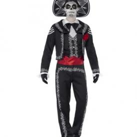 Sugar Skull Herren Kostüm