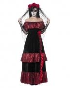 Tag der Toten Braut Kostüm mit Schleier