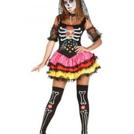 Dia de los muertos Damen Kostüm