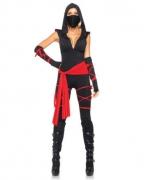 Sexy Ninja Kostüm für Damen Deluxe