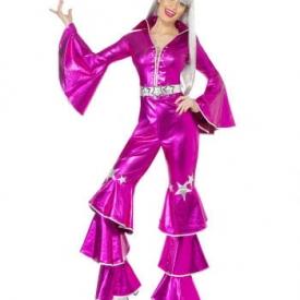 70er Dancing Dream Kostüm pink