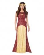 Drachen Königin Kostüm rot-gold