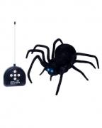 Schwarze Spinne mit Fernbedienung