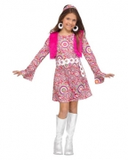Hippie 60er Jahre Mädchen Kostüm