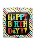 Happy Birthday Würfel Folienballon
