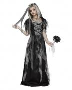 Halloween Brautkleid Kinderkostüm mit Schleier