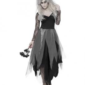 Geister Braut Kostüm mit Rosenschleier