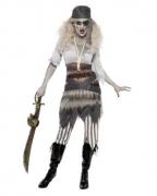 Geisterschiff Zombie Matrosin Kostüm