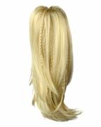 Blondes Haarteil Pferdeschwanz mit Zöpfen