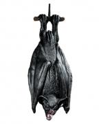 Schwarze Fledermaus hängend 38cm