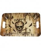 Tablett Happy Halloween Totenkopf