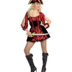 Frivoles Piratin Kostüm