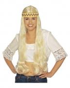 Blonde Hippie Perücke mit Haarband