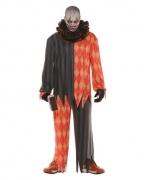 Böser Clown Kostüm mit Rüschenkragen
