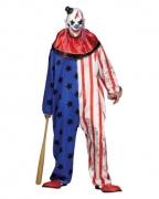 Amerika Clown-Kostüm mit Maske