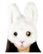 Weiße flauschige Kaninchenmaske
