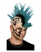 Mohawk Punk Perücke grün