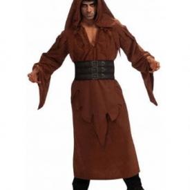 Kapuzen Robe braun