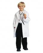 Kinder Professor Mantel weiß – L