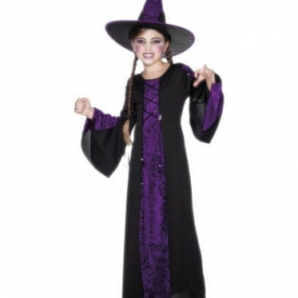 Violette Hexe Kinderkostüm