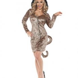 Leopard Kostüm Minikleid