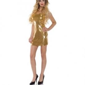 Goldfarbenes Pailletten Minikleid
