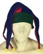 Narrenmütze grün-blau-rot