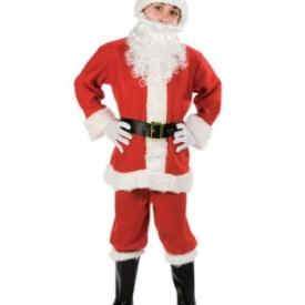 Kinderkostüm Weihnachstsmann mit Mütze