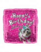 Pinker Folienballon Happy Birthday Bitches