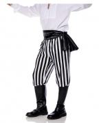 Schwarz-weiße Piraten Kostüm Hose