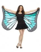 Blaue Schmetterlingsflügel XXL