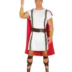 Rot-weißes Römer Kostüm