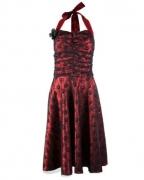 Gothic Kleid rot-schwarz
